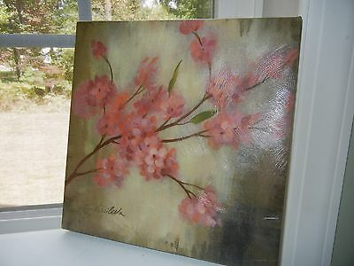 Painting by S. Vassileva, Beautiful Pink Flowers 12x12