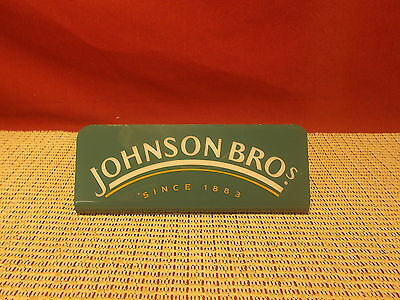 Johnson Brothers China Advertising Plastic Store Display Sign