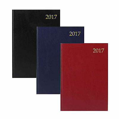 A4 & A5 Day Per Page / Week To View Hard Back Desk Calendar Year Diary 2017