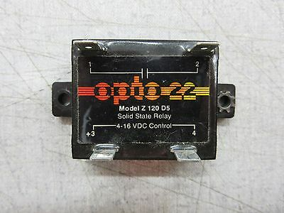 Opto 22 Z-120-D5 Z120D5 4-16VDC Solid State Relay 8002A