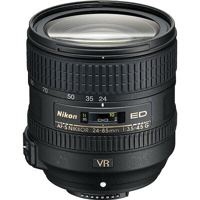 Nikon 24-85mm f/3.5-4.5G VR ED AF-S Zoom Lens USA Latest VR Version