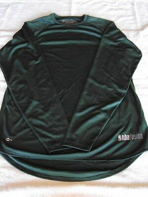 Adidas CLIMALITE NBA Fusion Green Long Sleeve Loose Fit Performance Shirt NEW