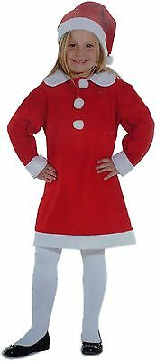 Childs Girls Santa Outfit AGE 4-6 Kids Father Christmas Fancy Dress Suit New