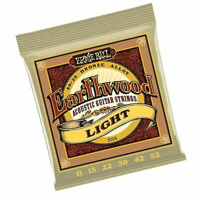 Ernie Ball 2004 Earthwood Light 80/20 Bronze Acoustic Guitar Strings 11 - 52