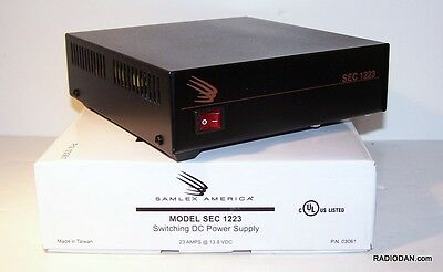 SAMLEX SEC-1223 13.8 vdc 25 amp DC power supply NEW with Anderson Power Pole