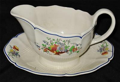 Royal Doulton - TAZZA - D4219 - Gravy Boat with Attached Underplate