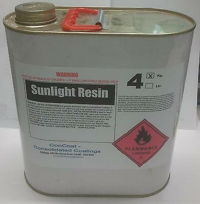 4kg Sun Activated Polyester Resin - FREIGHT PER DESCRIPTION