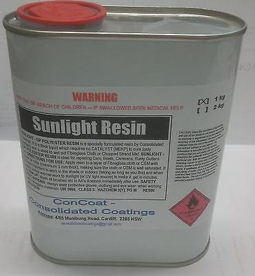 Sun Activated Polyester Resin - 1 kg - FREIGHT PER DESCRIPTION