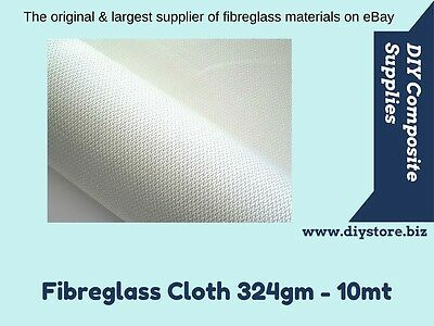 10oz/324gm Fibreglass Cloth 1mt wide - 10mt pack (FREE FREIGHT) For EPOXY & Poly