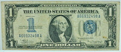 1934 United States Silver Certificate $1 Blue Stamp P25720