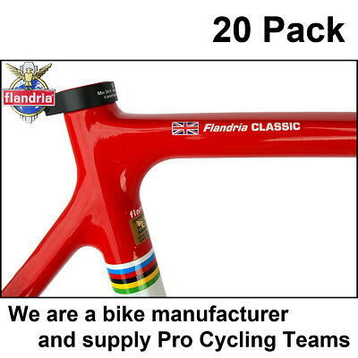 20x Personalised bike frame Name Stickers Decals + Flag. THE ORIGINAL AND BEST !