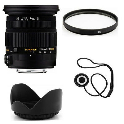 Sigma 17-50mm f/2.8 EX DC OS HSM Zoom Lens for Nikon + Accessories