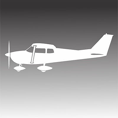 Vintage Cessna 172 Swept Tail Aircraft with Wheel Pants Decal
