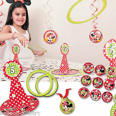 22 Piece Disney Minnie Mouse Classic Red Polka Dots Hoopla Party Game