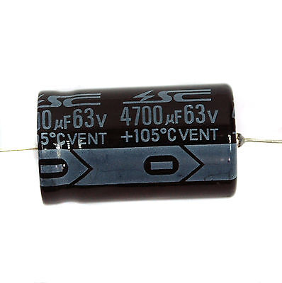 100pc Electrolytic Capacitor GHA 10uF 35V 105℃ 2000hrs φ6x12mm Axial RoHS SC