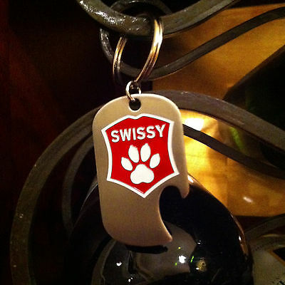 SWISSY Bottle Opener. Greater Swiss Mountain Dog Stainless Steel Bottle Opener
