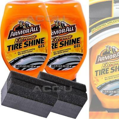 2 X Armorall Armor All Extreme Car Tyre Tire Wet Black Shine