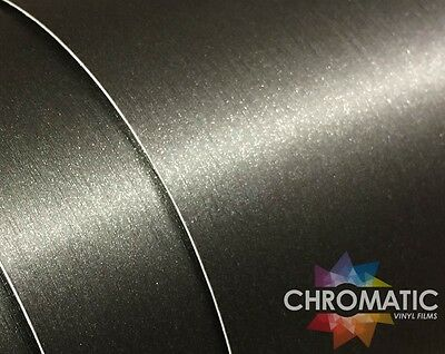 Brushed Grey Titanium Wrap - 1.52 x 3M - Bubble Free Car Wrapping Vinyl Foile