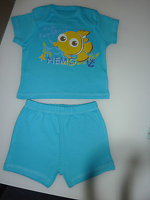 DISNEY Really Cute Little Blue NEMO PJ's NEW