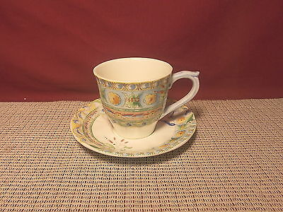 Gien China Paphael Pattern Cup & Saucer Set New