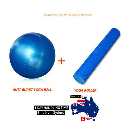 Fitness Gym Package Professional Yoga Foam Roller Mat Swiss Ball Pilates Physio