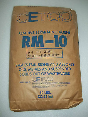 CETCO RM-10 Reactive Separating Agent Wastewater treatment Absorbs oil