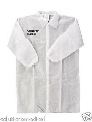 Lab Coat Protective Disposable Dust Coat X 1 White