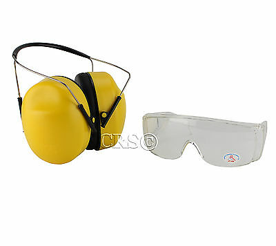34 Nrr Hearing Noise Protection Shooting Range Gun Earmuffs fit over Rx Glasses