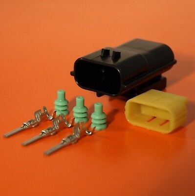 3 Way Male Econoseal Electrical Wiring Multi Connector - Genuine AMP Product