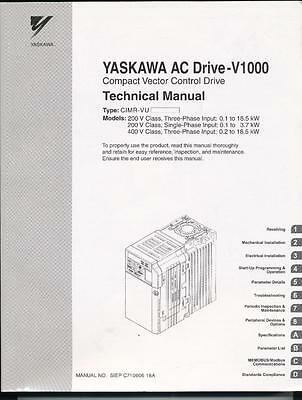 YAKSAWA AC Drive-V1000 Compact Vector Technical Manual SIEPC71060618A [PZD]