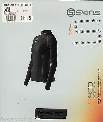 Skins Snow S400 Compression Thermals Womens Long Sleeve Black Top