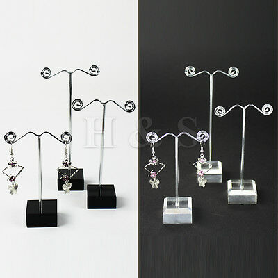 Set of 3 Earrings Jewellery Shop Display Stand Holder Showcase Storage Box Case