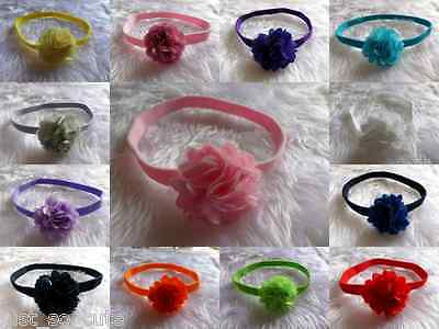 baby toddler girls flowers headband  soft stretchy  hairband  only 99p