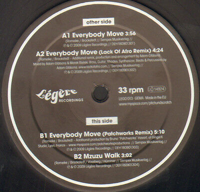 PITCH & SCRATCH - Everybody Move - Legere