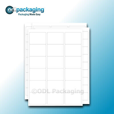 A4 Sheets of Laser / Inkjet White Address Labels All Sizes Self Adhesive