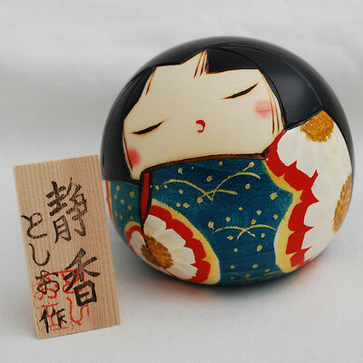 Japanese Kokeshi Doll - Authentic - Handmade in Japan - Shizuka / Calm