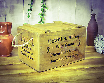 Vintage antiqued wooden box, crate,  English Ale, Hops Chest