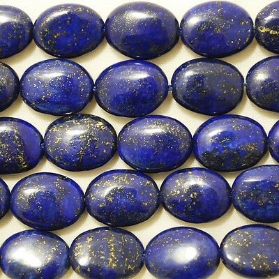 10 Semi Precious Gemstone Natural Lapis Lazuli Oval Beads 10 x 14 mm 12x16mm