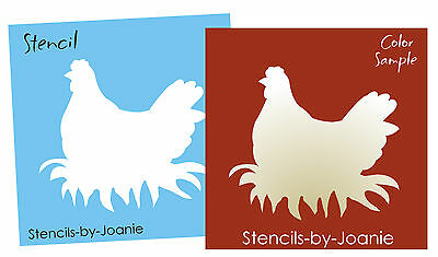 STENCIL Topper Hen Nest Chicken Rooster Farm Egg Country Home Signs U paint