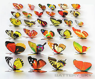 Colorful Dummy Fake 3D Butterflies with Magnet Artificial Craft Wedding Party