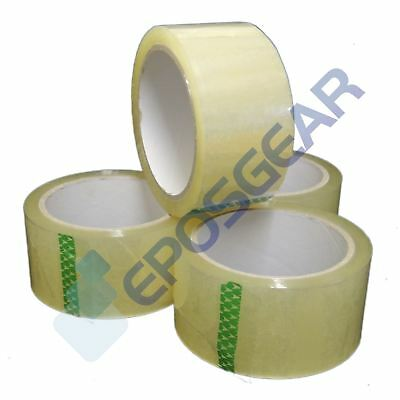 6 Rolls 48mm x 66m Clear Quality Strong Long Plain Blank Parcel Packing Tape