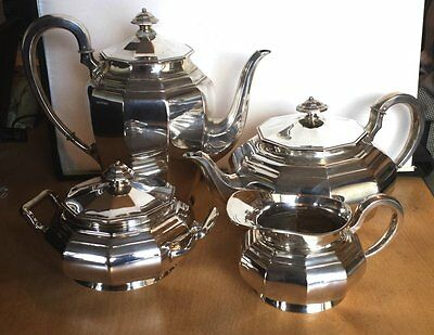 Beautiful Art Deco German Solid Silver Hallmarked 4 Piece Tea Service OFFERS??