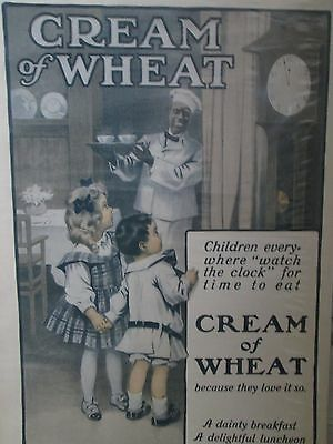~Cream of Wheat Advertising Print Poster Vintage 1910~Country CoTtage Decor~