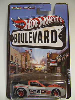 HOT WHEELS 2012 Boulevard Corvette C6R Rubber Real Riders Tires NICE! COOL!