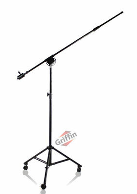 Studio Microphone Boom Stand Mic Tripod Holder with Casters Wheels Griffin