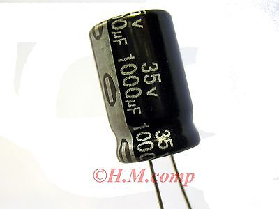 35V 1000uF 105°C electrolytic radial Capacitor X 5