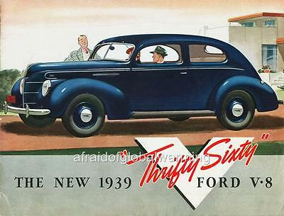 Old Print.  1939 Ford Sixty V-8 - Automobile