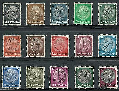 Germany - Hindenburg  Used Stamps from 1933 - 36......................#1031
