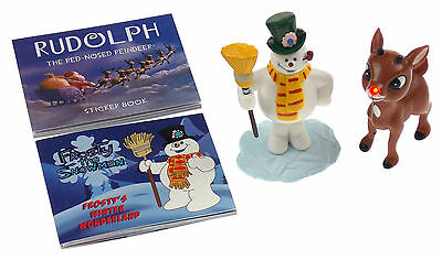 Frosty Snowman Rudolph Red Nosed Reindeer Lights Figurines Book