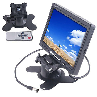 """Digital 7"""" TFT LCD Color Auto Car Rearview Headrest Monitor DVD Camera VCR US"""